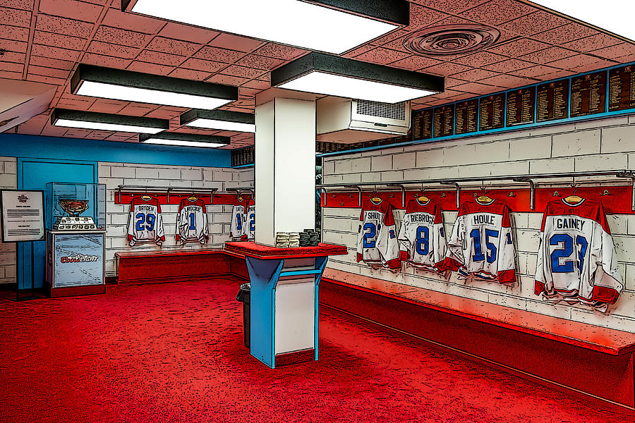 Montreal Canadians Hall Of Fame Locker Room Painting  - Montreal Canadians Hall Of Fame Locker Room Fine Art Print