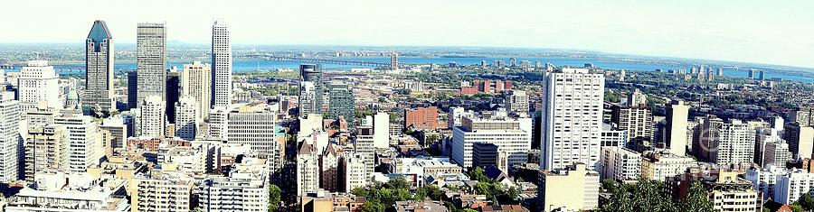 Montreal City View From Mont Royal Photograph