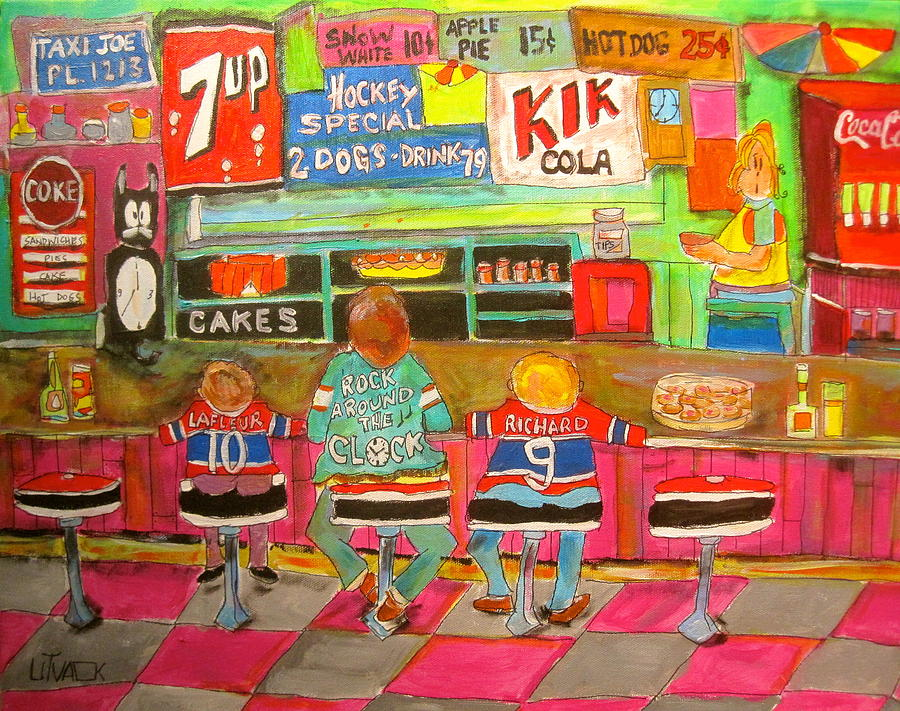 Hockey Fans Painting - Montreal Hockey Tradition by Michael Litvack