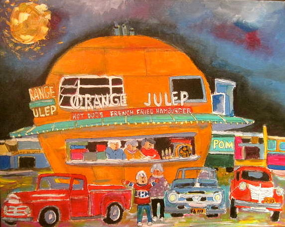Montreal Painting - Montreal Orange Julep 1963 by Michael Litvack