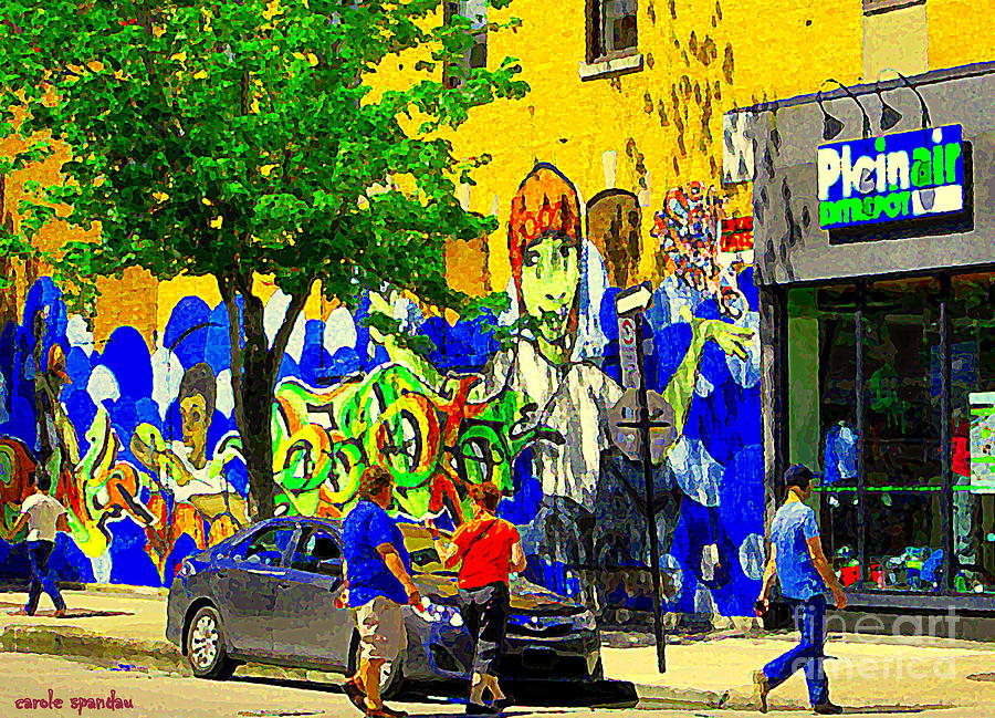 Montreal street art murals festival painted graffiti tags for Art mural montreal