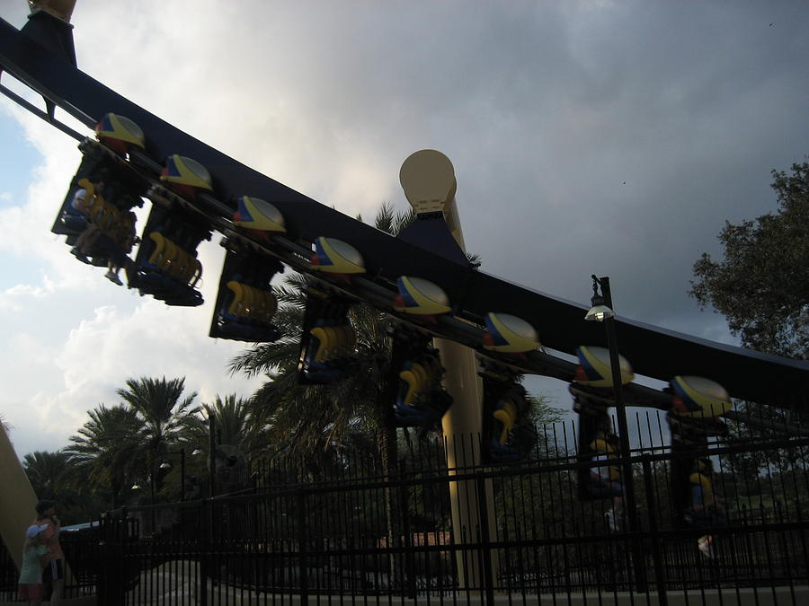 Amusement Photograph - Montu Roller Coaster - Busch Gardens Tampa - 01139 by DC Photographer