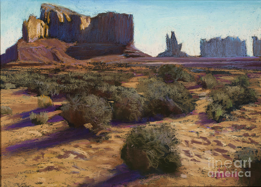 Morning Sun Painting - Monument Valley by Dave Holman