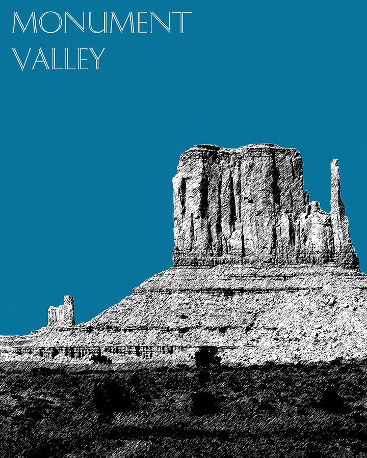 Monument Valley Digital Art  - Monument Valley Fine Art Print