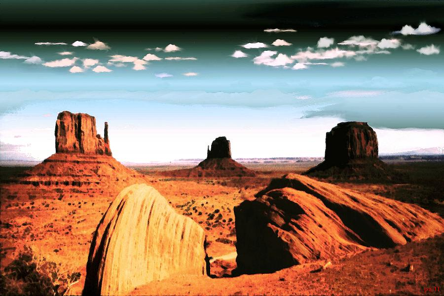 Monument Valley Magic - Digital Art Landscape Photograph