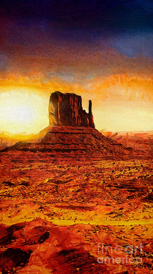 Monument Valley Painting - Monument Valley by Mo T