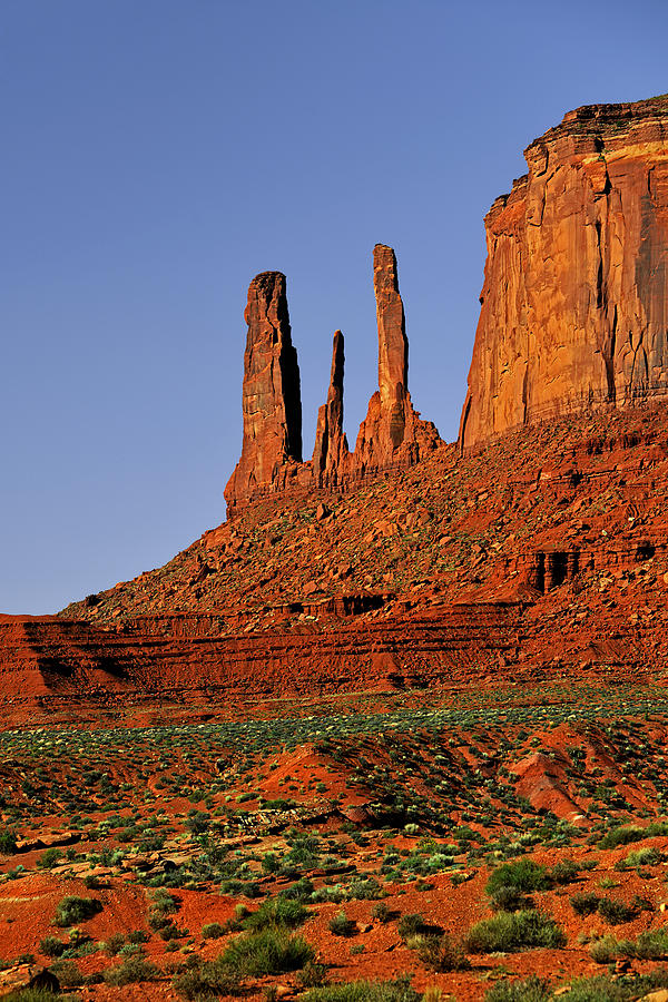 Monument Valley Photograph - Monument Valley - The Three Sisters by Christine Till