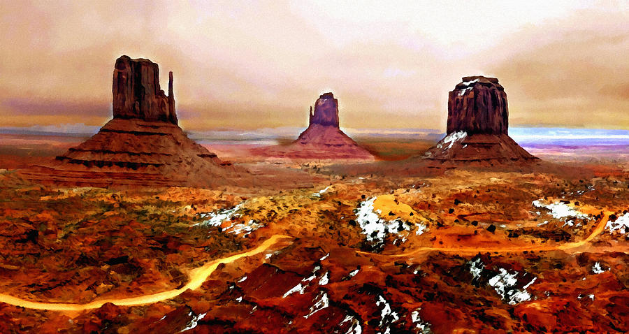 Monument Valley Winter  Painting