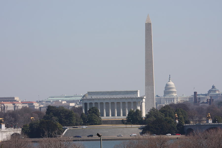 Monument View From Iwo Jima Memorial - 12121 Photograph