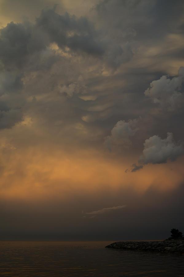 Cloud Photograph - Moody Storm Sky Over Lake Ontario In Toronto by Georgia Mizuleva