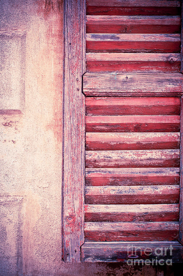 Moody Weathered Shutter Photograph