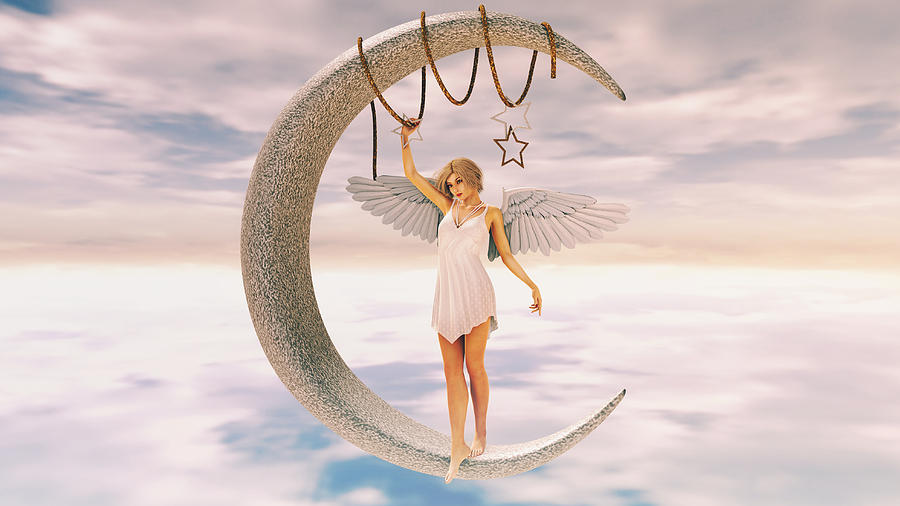 Moon Angel Digital Art