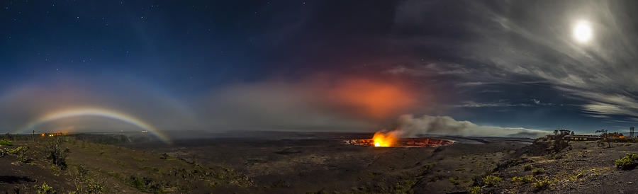 Moon Bows Lava Glows And Halos Photograph