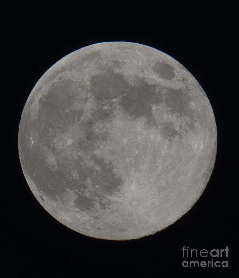 Moon Closeup Photograph