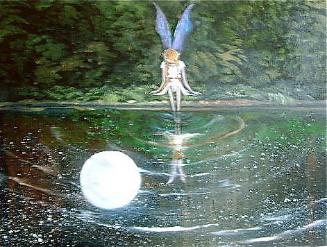 Moon Fairy Painting