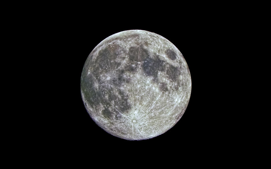 Moon Hdr Photograph