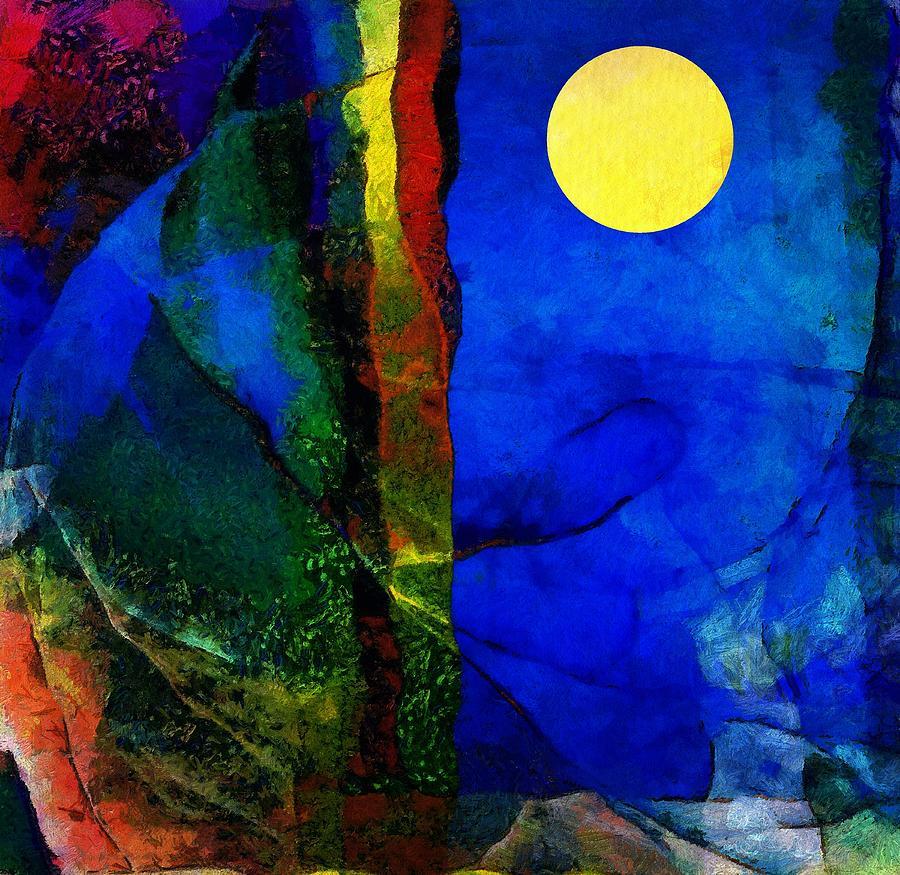 Moon In My Window Digital Art