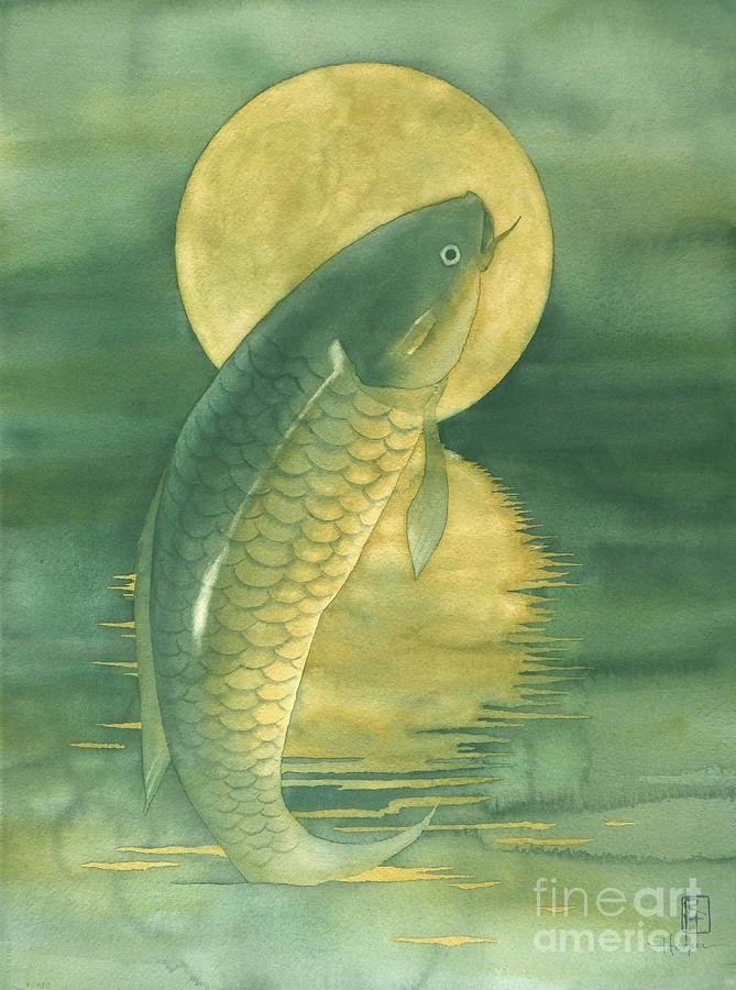 Moon Koi Painting