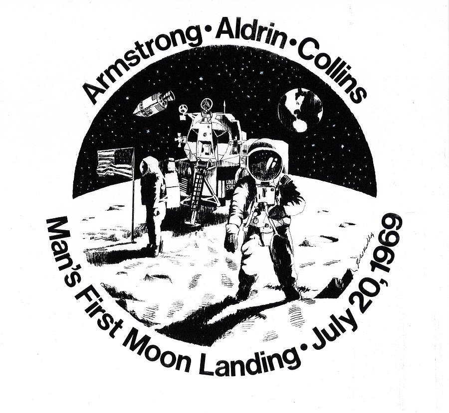 moon landing drawing Gallery