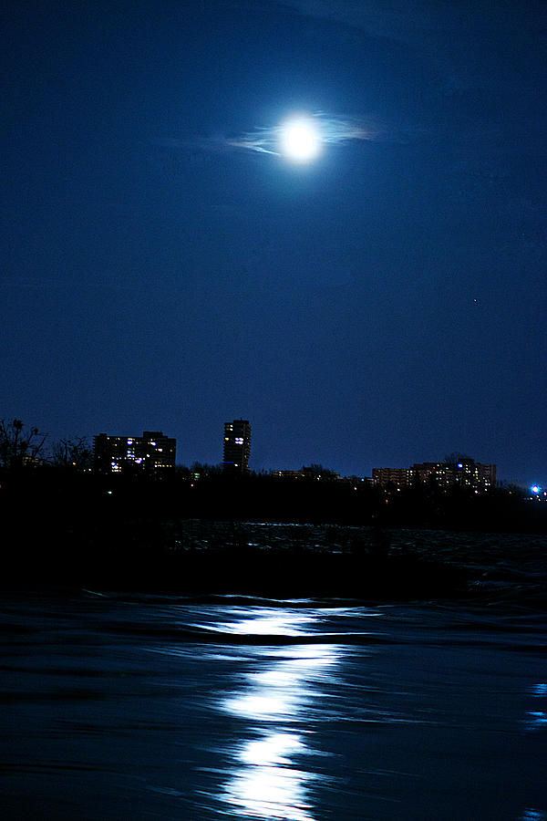 Night Photograph - Moon Light by Andre Faubert