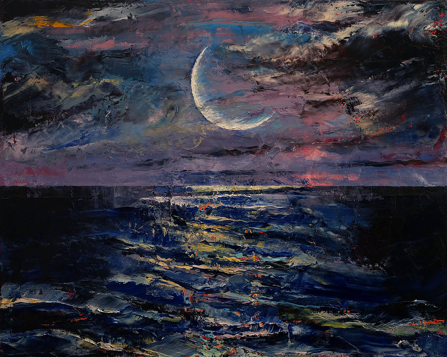 Moon Painting By Michael Creese