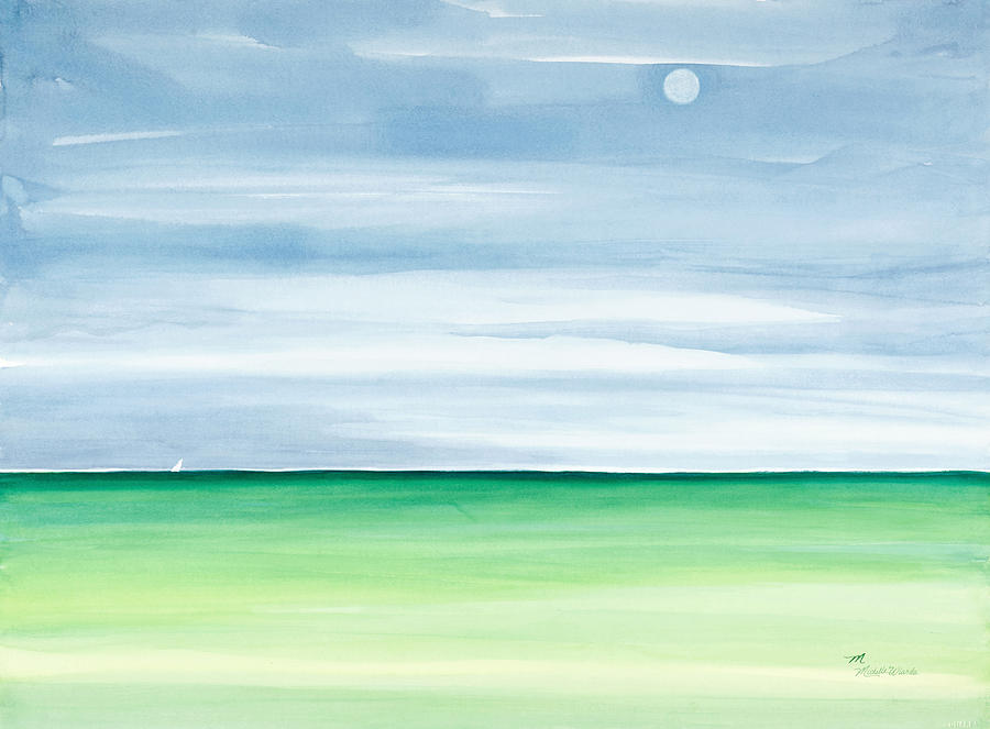 Moon Over Islamorada Painting  - Moon Over Islamorada Fine Art Print