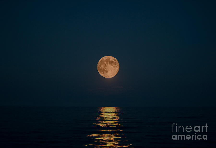 Moon Over Lake Of Shining Waters Photograph