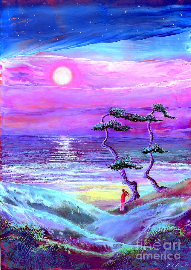 Moon Pathway,seascape Painting