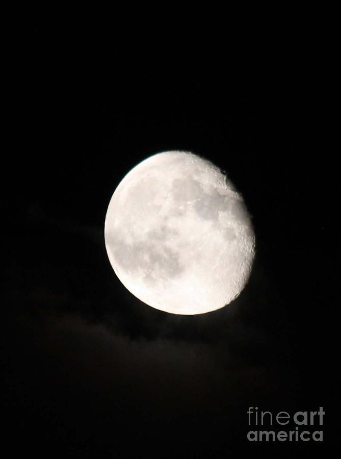 Moon Photographed In Black And White Photograph - Moon Photographed In Black And White by John Telfer