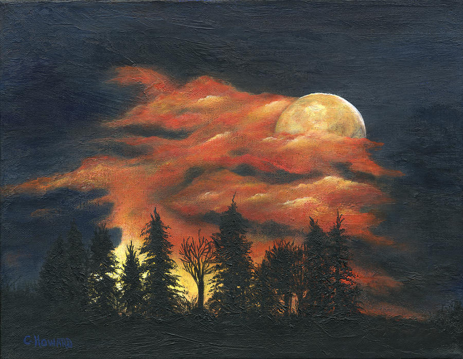 Moon Rise Love Song Painting