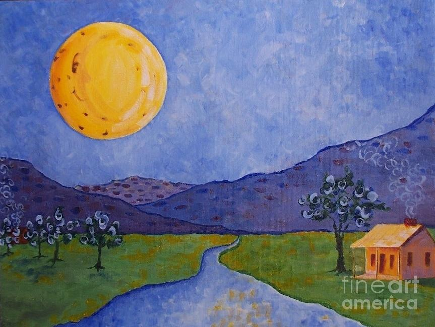 Moon River Painting  - Moon River Fine Art Print