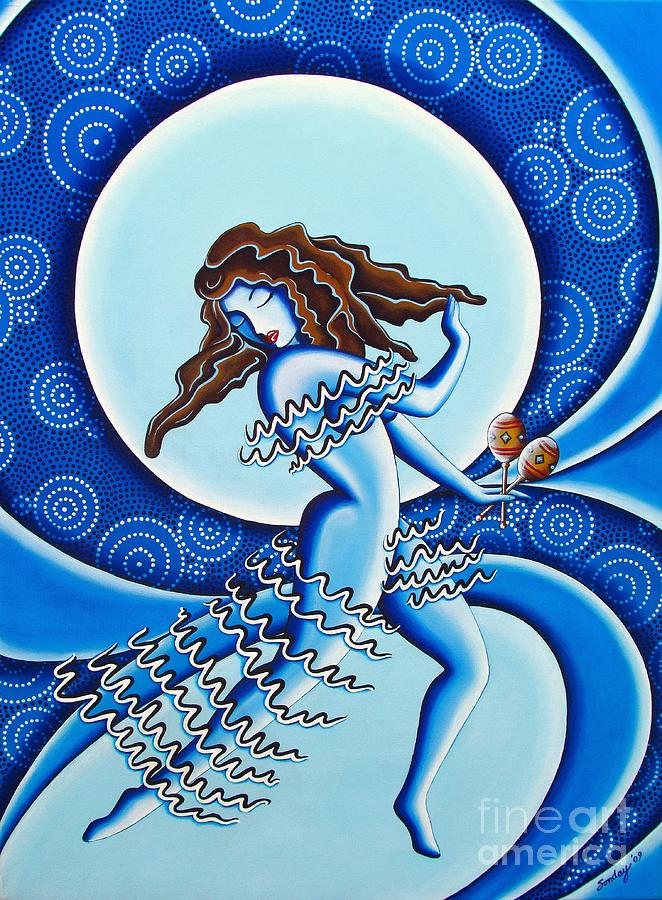 Moonlight Dancer Painting  - Moonlight Dancer Fine Art Print