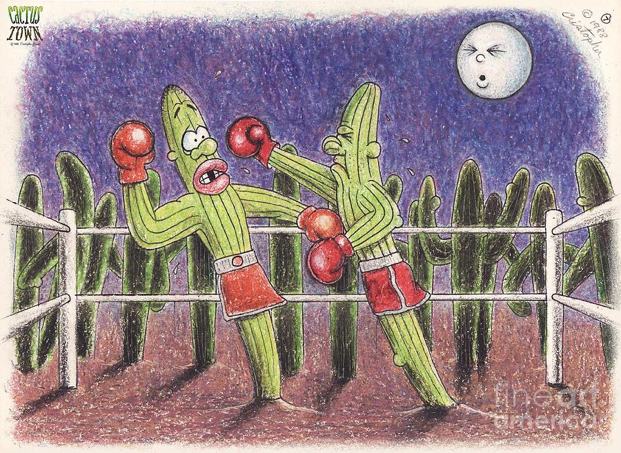 Moonlight Fight Drawing