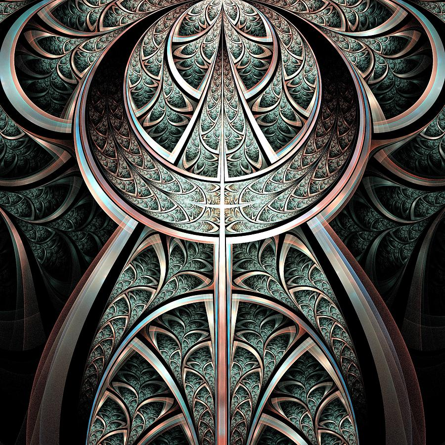 Moonlight Gates Digital Art  - Moonlight Gates Fine Art Print