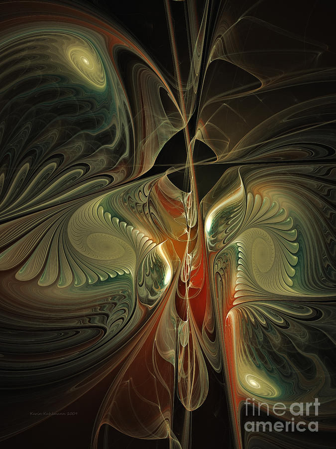 Moonlight Serenade Fractal Art Digital Art