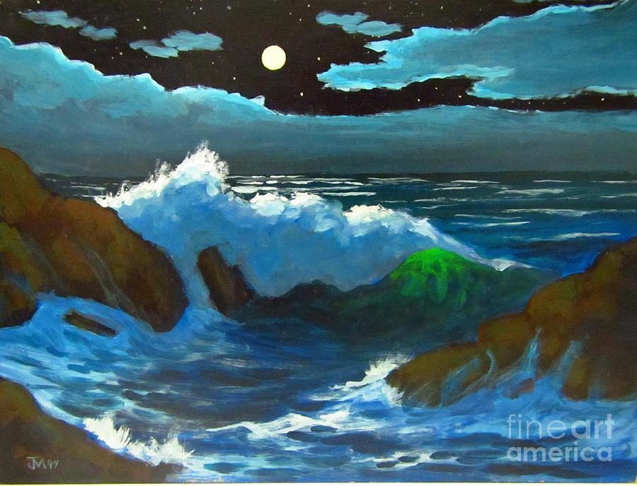 Moonlight serenade painting by john malone Fine art america