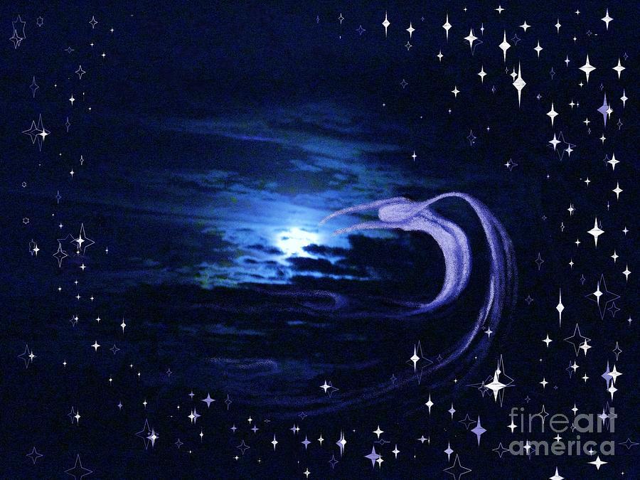 Sky Photos Photograph - Moonlight Swim by Jacquelyn Roberts