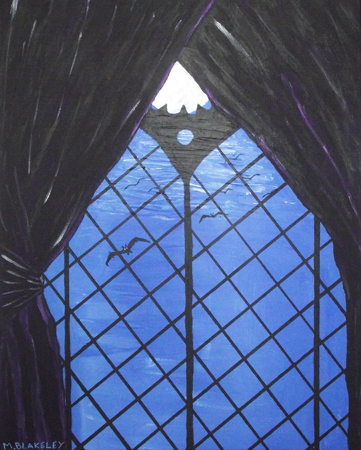 Moonlight Painting - Moonlight Through The Window by Martin Blakeley