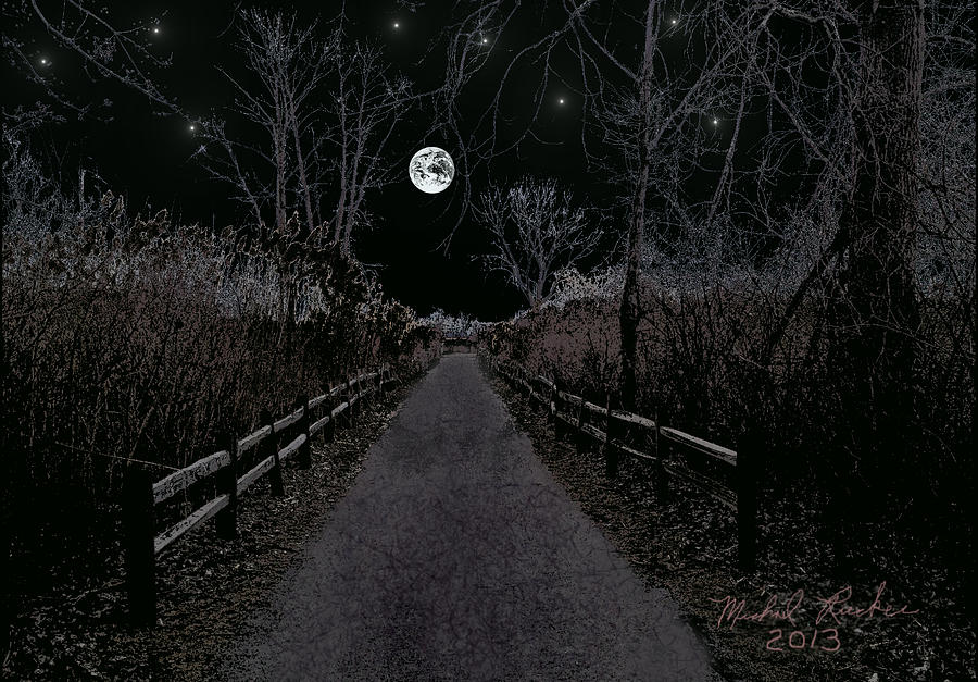 Moonlight Trail Digital Art