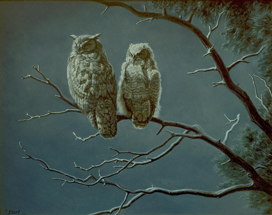 Moonlight Watchers Painting