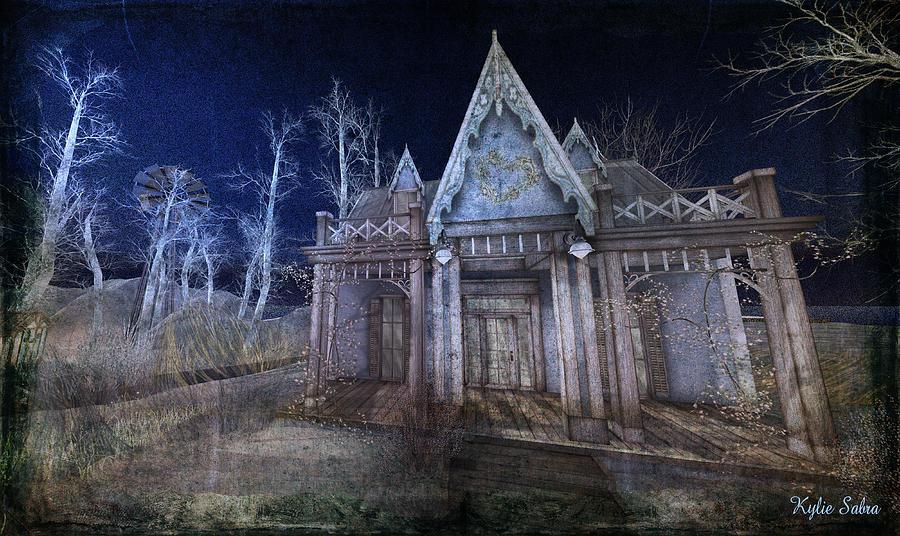 Moon Digital Art - Moonlit Cape Cod by Kylie Sabra