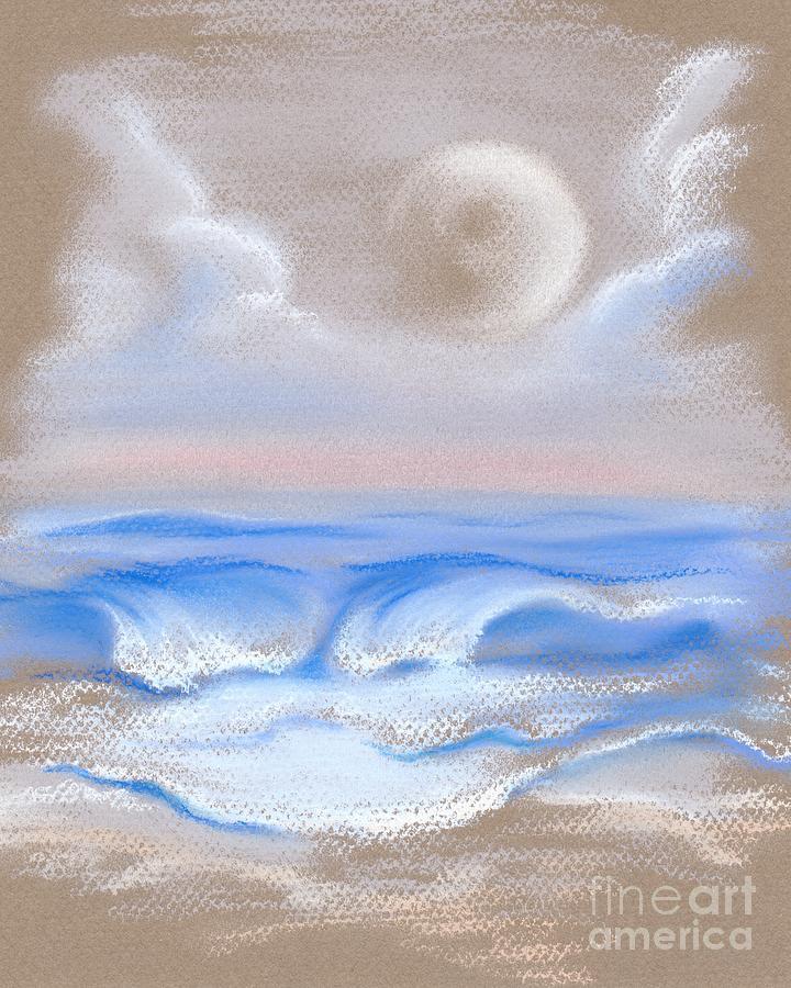 Moonrise Over Myrtle Beach Pastel