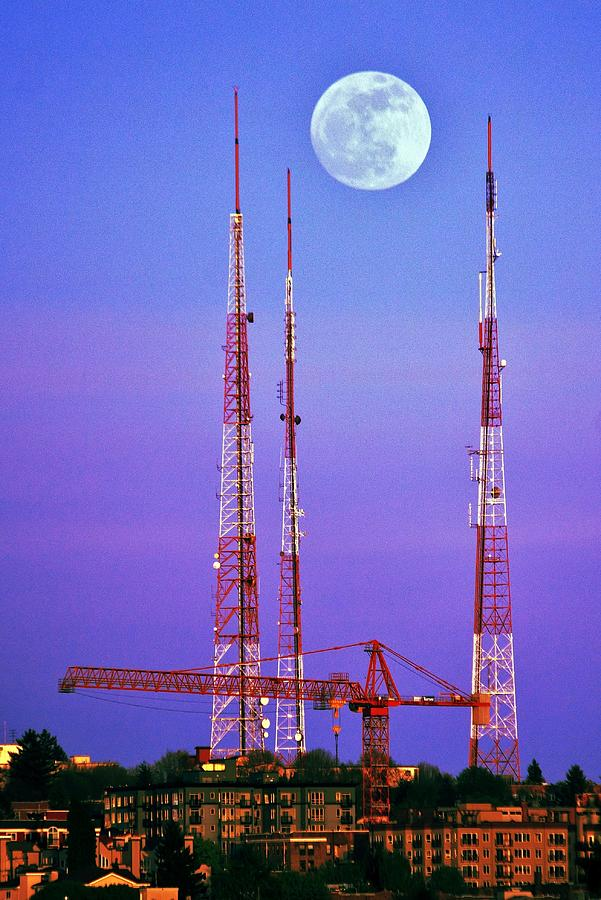Moontowers Photograph  - Moontowers Fine Art Print