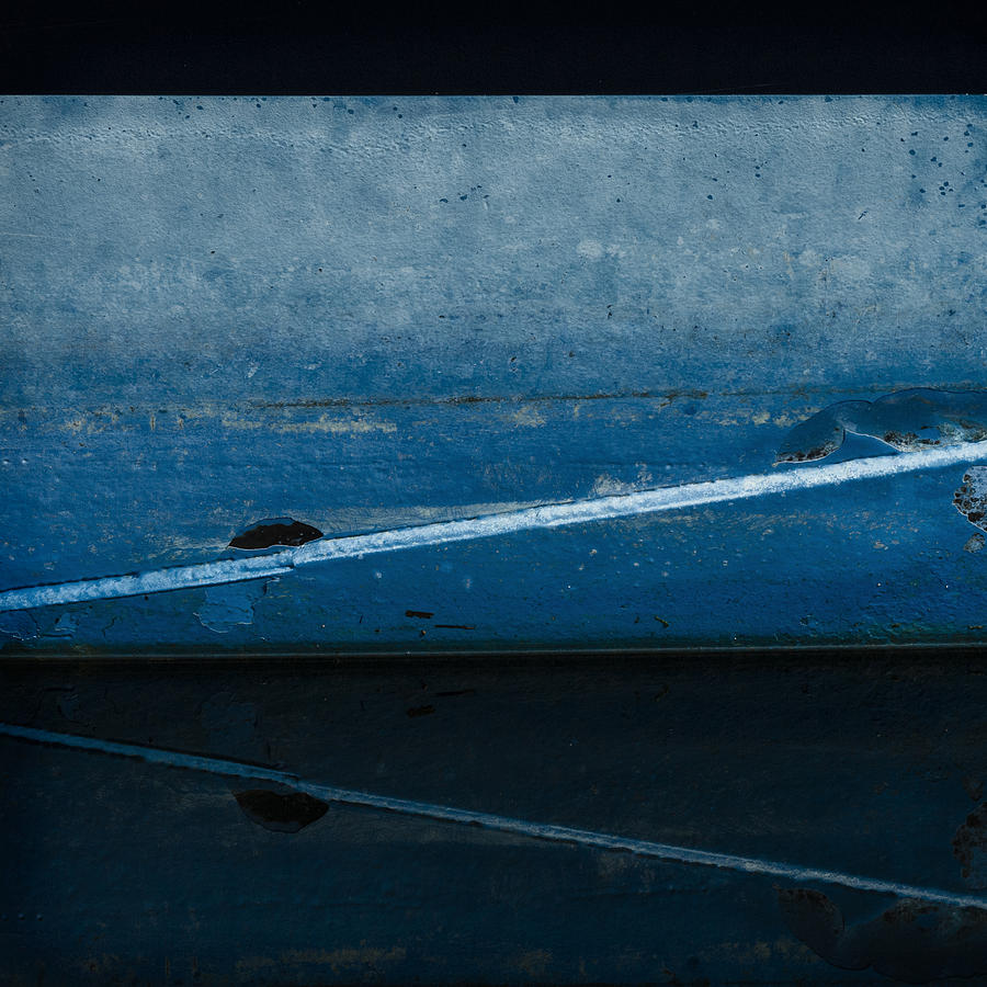 Moored In Blue Photograph