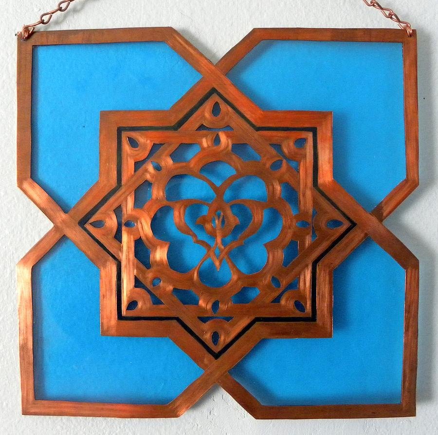 Moorish star window passage mixed media by shahna lax for 5 star windows