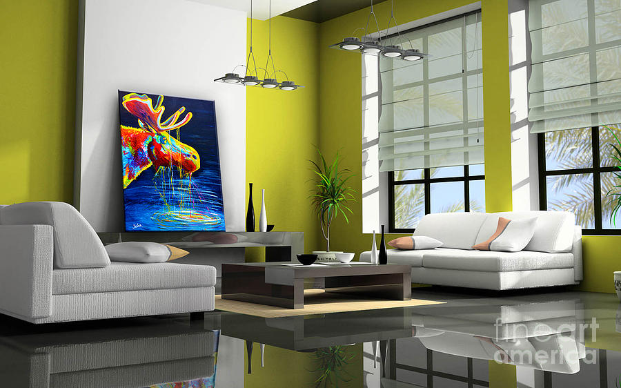 Moose Drool Contemporary Living Room Showcase Painting