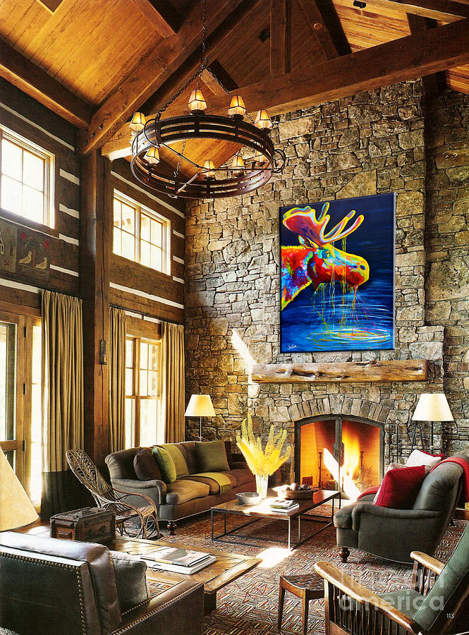 Moose Drool Lodge Showcase Painting