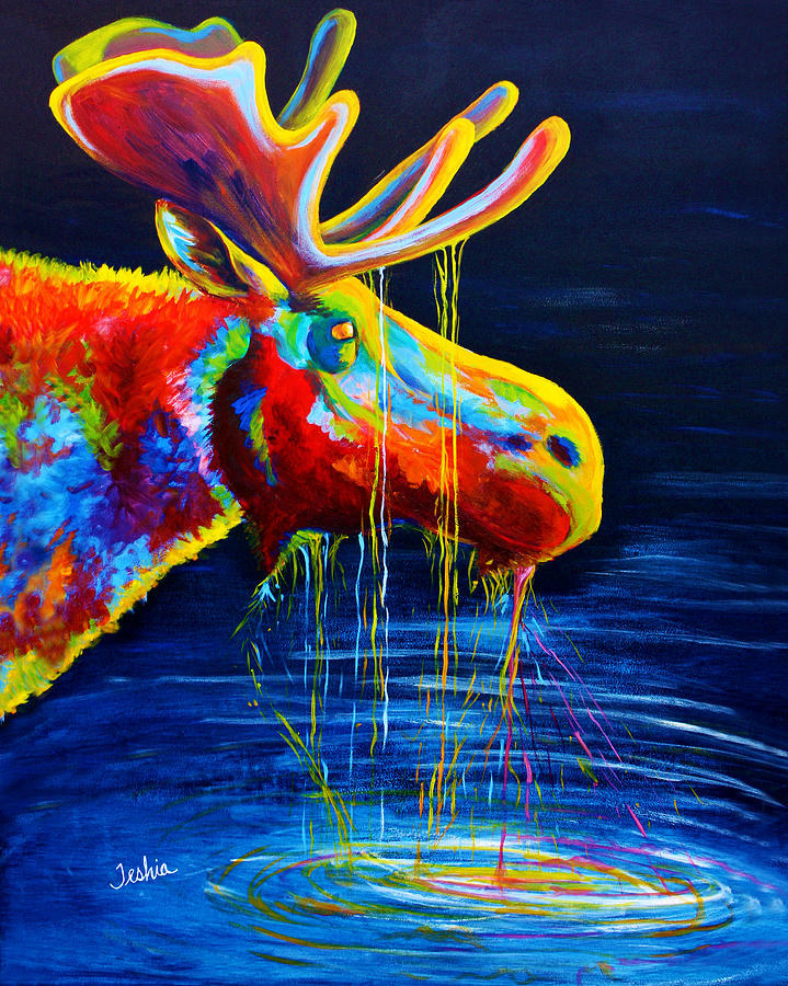 Moose Drool Painting  - Moose Drool Fine Art Print