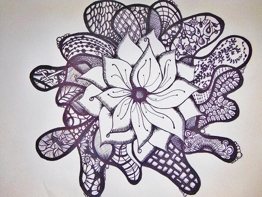 Flower Drawing - More Than A Flower by Lori Thompson