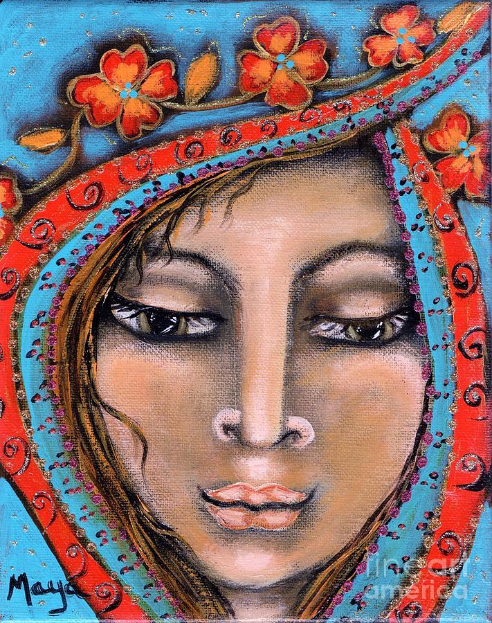 Sacred Art Painting - Morganna by Maya Telford